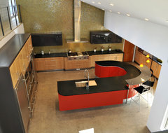 Saddle River Red Modern modern-kitchen