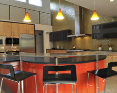 Saddle River Red Modern modern kitchen