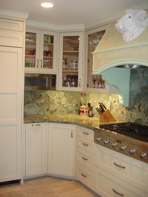 Sage Green Cabinets Traditional Kitchen San