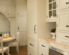Sage Green Inset Door Kitchen traditional kitchen