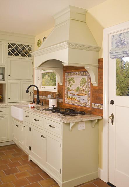 Sage Green Inset Door Kitchen rustic-kitchen