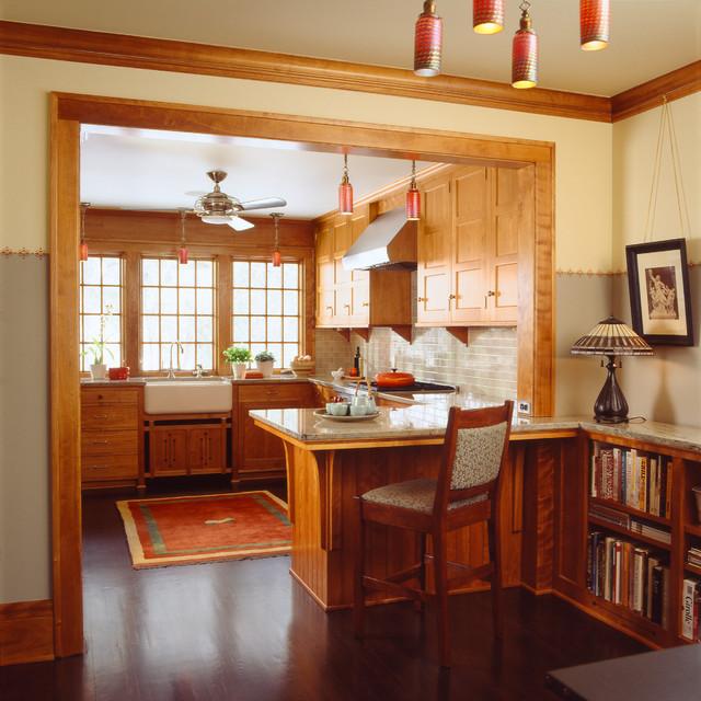 Saint Paul Craftsman Craftsman Kitchen Minneapolis By David Heide Design Studio