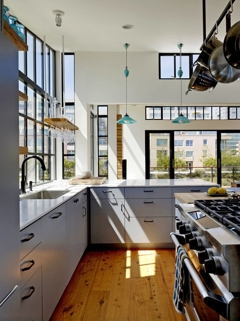 San Francisco Floating House Modern Kitchen San
