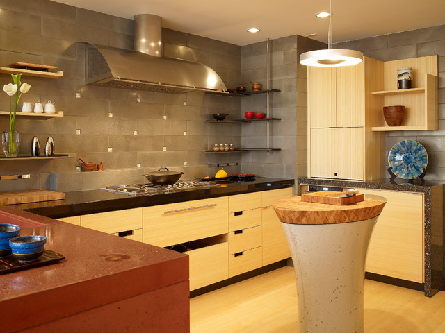 San Francisco High Rise Home Contemporary Kitchen