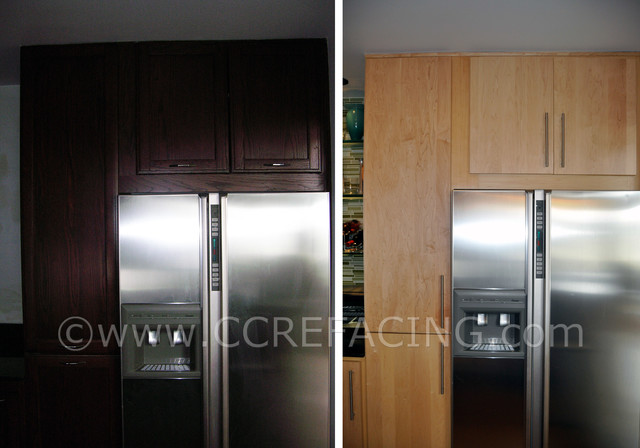 San Francisco reface with Natural Maple slab doors