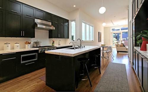 Dark Kitchen Cabinets White Countertops Quicua Com Part 26