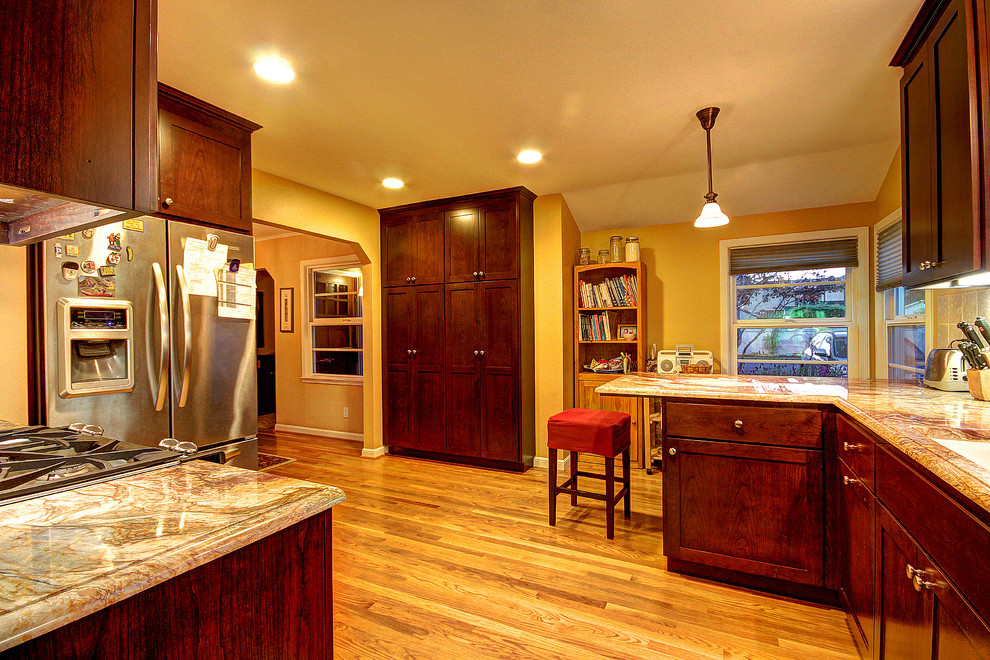 San Jose Traditional Kitchen Remodel - open space ...