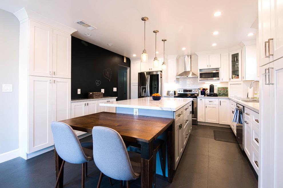 San Jose White Shaker Kitchen Remodel- semi custom ...