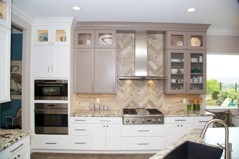 Inspiration for a transitional kitchen remodel in San Diego