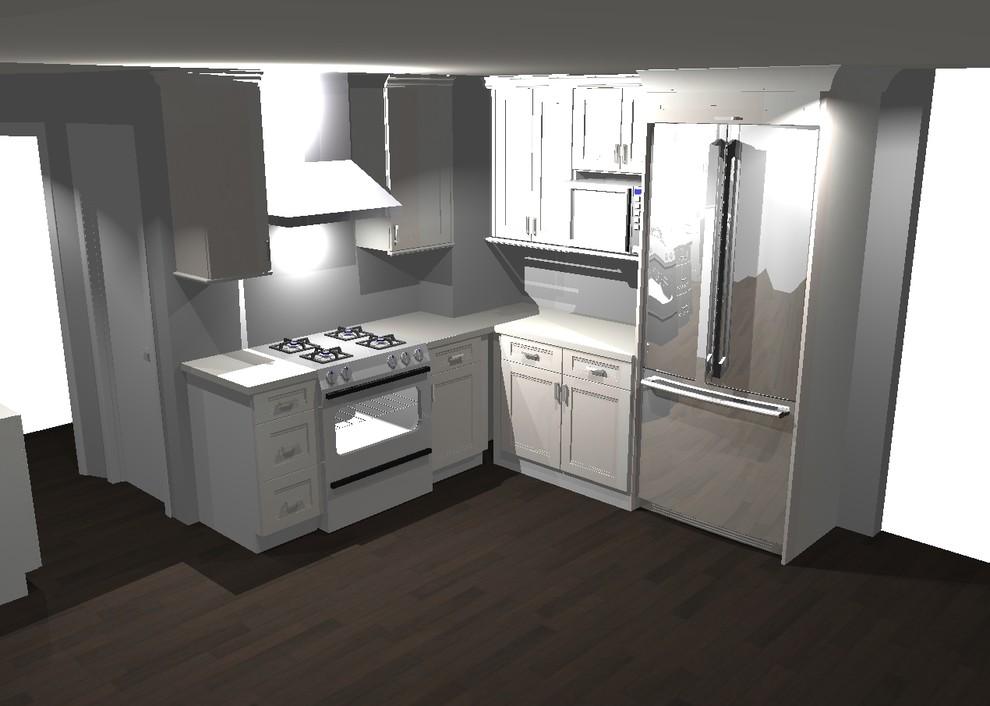 San Mateo Kitchen Remodel-Dura Supreme - Transitional ...