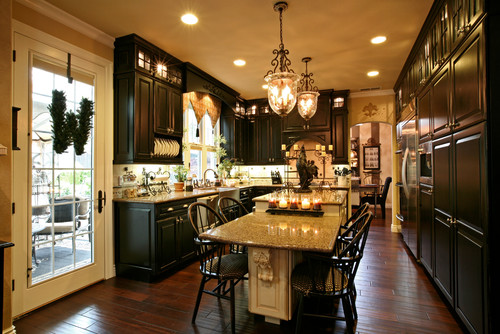 What did you use for the black cabinets, gel stain or actual paint?