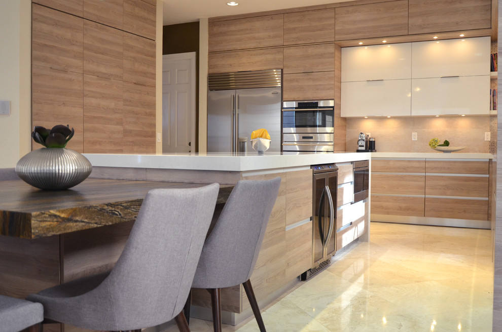 SANDSTORM - Contemporary - Kitchen - Miami - by KabCo Kitchens