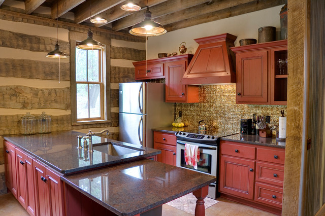 Sandy creek cabin rustic kitchen austin by for Laughlin cabins