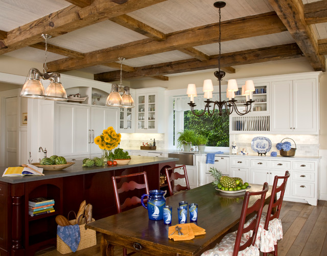 Santa barbara dutch colonial beach style kitchen for Dutch colonial interior design
