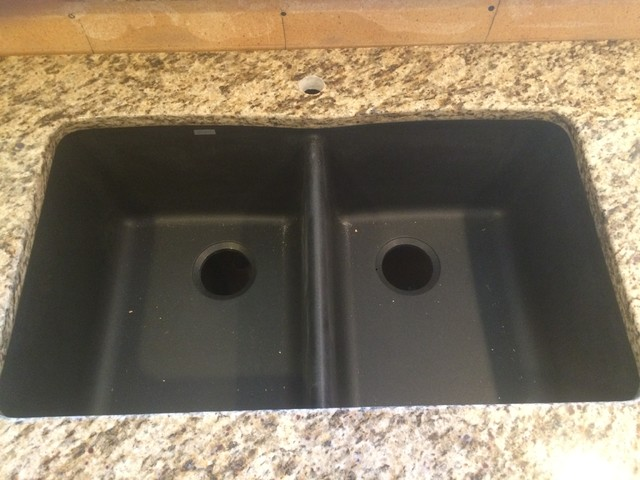 Anthracite Kitchen Sink : ... Classico Kitchen w/ 50/50 Blanco Anthracite Sink contemporary-kitchen