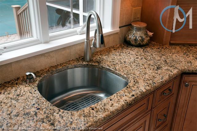 Santa Cecilia Granite With A Half Bullnose Edge Contemporary Kitchen New York By Marble All Corp