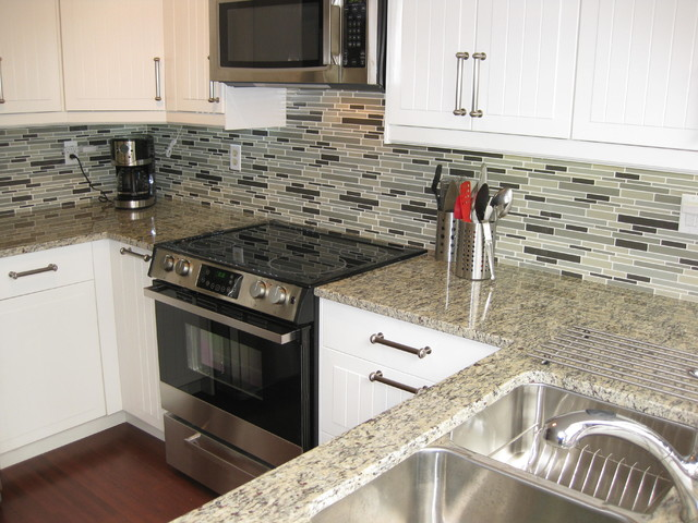 Santa Cecilia Light Granite Traditional Kitchen