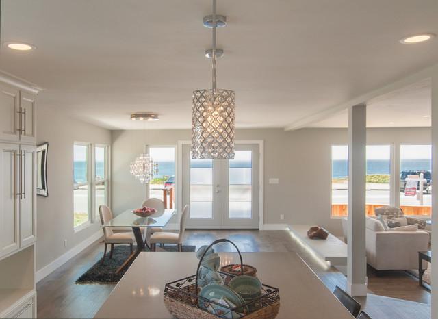 Santa Cruz Overlooking the Ocean contemporary-kitchen