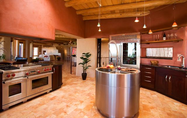 Santa Fe Contemporary Kitchen Sink Island