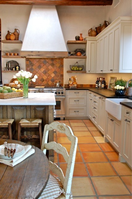 Santa Fe Country French Kitchen Remodel - Traditional - Kitchen - other metro - by Casa Solterra