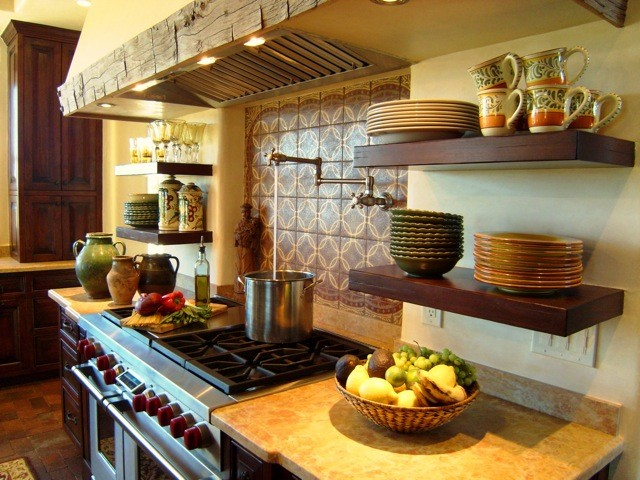Santa Fe Las Campanas Spanish Kitchen Traditional