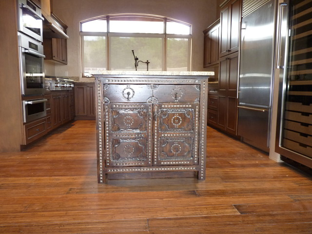 Santa Fe New Mexico Classic Spanish Colonial Cabinetry Rustic Kitchen Albuquerque By