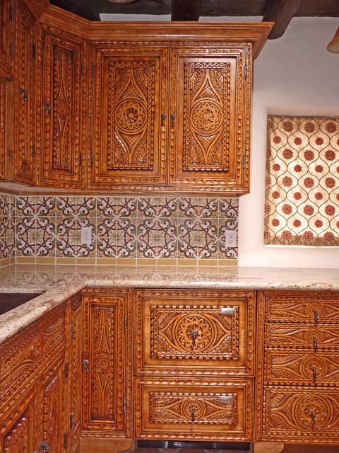 Santa Fe Spanish Colonial Revival Mediterranean Kitchen