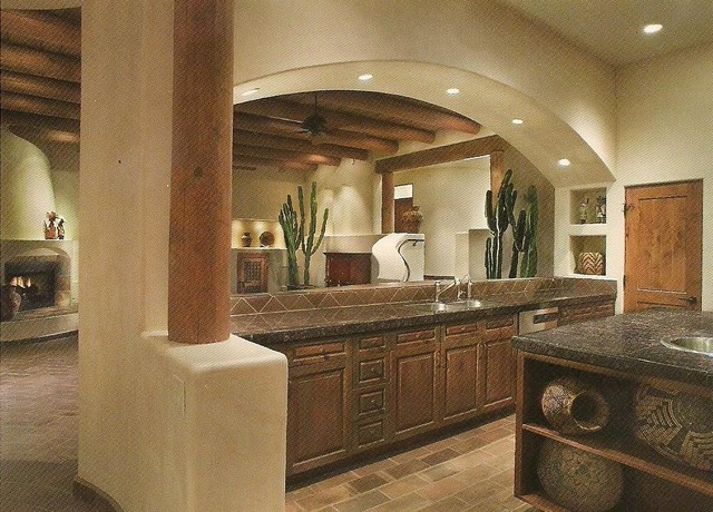 Santa fe style home oro valley az lot 77 contemporary for Santa fe home design