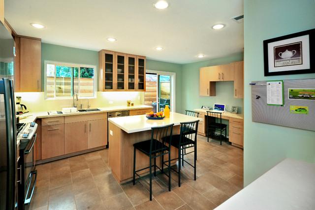 Santa Monica Kitchen And Workspace Modern Kitchen Los Angeles By La Dwelling