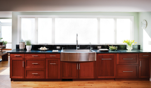 Sapele Kitchen Remodel Traditional Burlington By