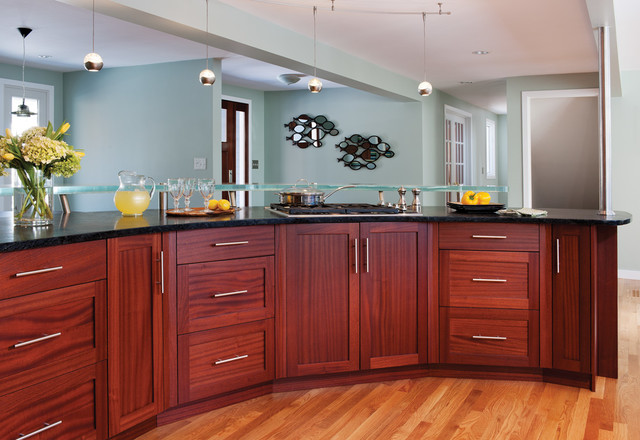 Sapele Kitchen Remodel - Traditional - Kitchen - other ...