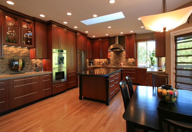 Exceptionnel Sapele Kitchen Remodel Contemporary Kitchen