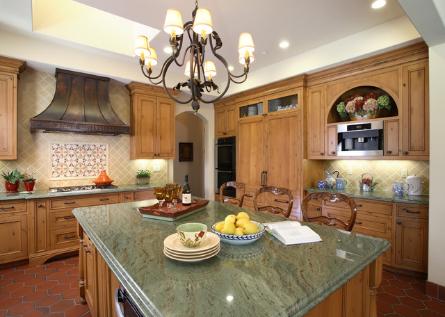 European French Inspired traditional-kitchen