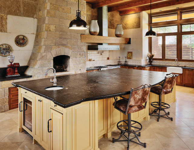 Saratoga Soapstone Kitchen Eclectic Kitchen