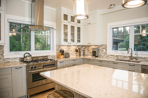 How high above the stove is the extractor hood?
