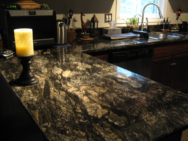 Saturnia Granite Kitchen Counters Eclectic Kitchen