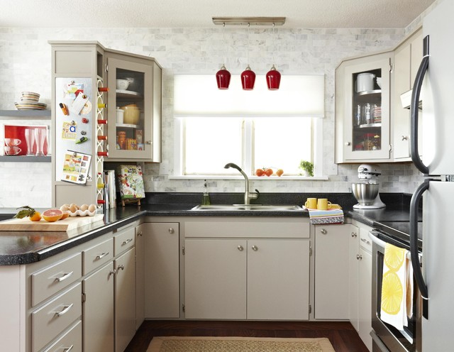 Savory spaces budget kitchen remodel modern kitchen for Remodeled kitchens on a budget
