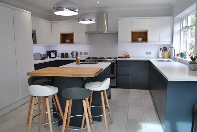 Scandi Kitchen Hugge Style Scandinavian Kitchen Hertfordshire By Sai Interiors Houzz