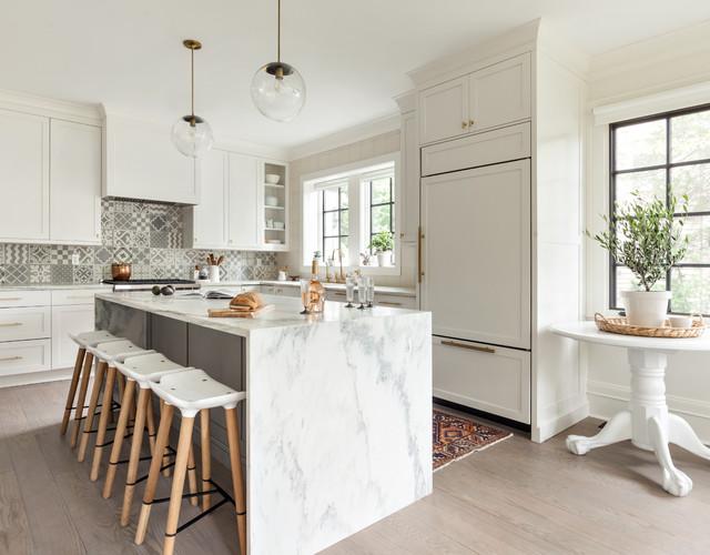 Scandinavian Dutch Colonial transitional-kitchen