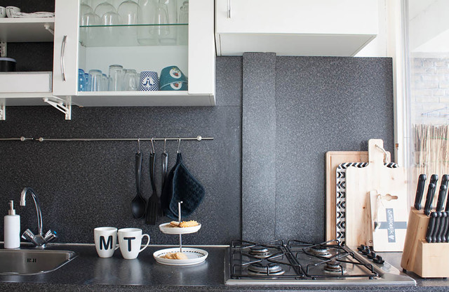 Scandinavian style on a budget in a small city apartment eclectic-kitchen