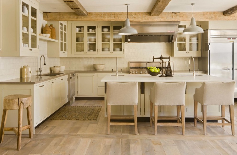 Inspiration for a contemporary kitchen remodel in Denver with stainless steel appliances