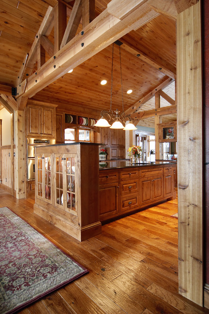 Schmidt Lake Timber Lodge traditional-kitchen