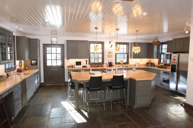 School House Kitchen Farmhouse Kitchen