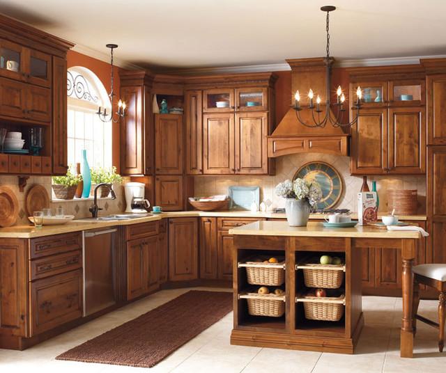 Dark Knotty Alder Kitchen Cabinets: Schrock Cabinetry