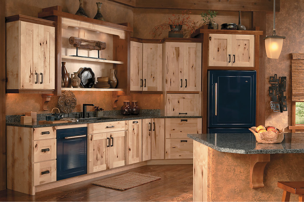 Schuler Cabinetry Rustic Kitchen Seattle By Lowe S Of Silverdale Wa
