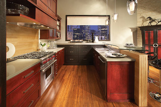 Schuler cabinetry tropical kitchen seattle by lowe for Bedroom furniture 98383