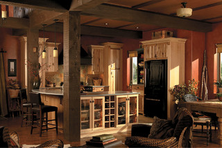 Schuler cabinetry rustic kitchen seattle by lowe 39 s for Bedroom furniture 98383