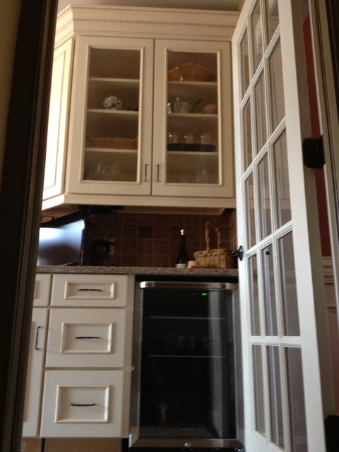 Schuler Cabinets In White Chocolate MainHeirloom Black