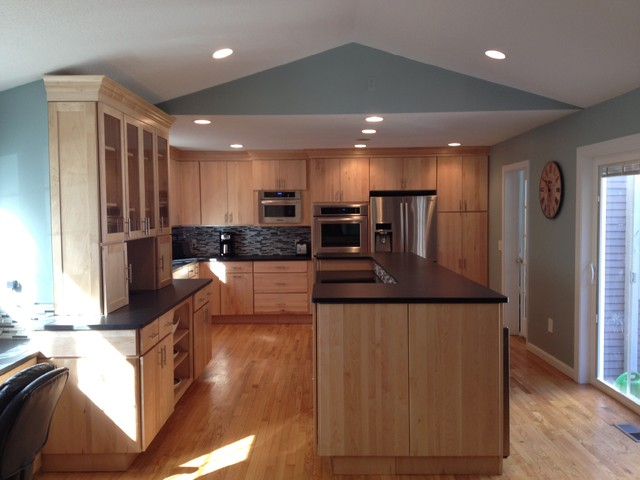 Schuler Capistrano Natural Maple South Windsor Contemporary Kitchen Manchester Nh By