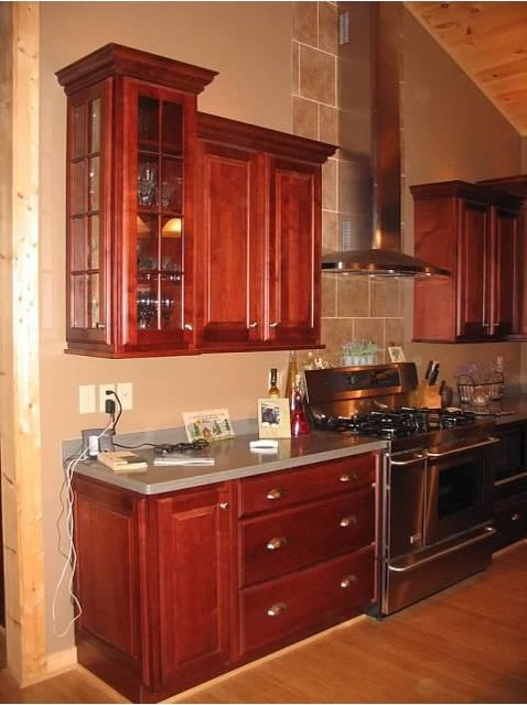Schuler princeton maple in brandywine for Brandywine kitchen cabinets